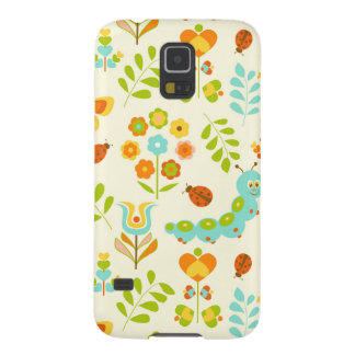 Cute caterpillar and flowers galaxy s5 cover