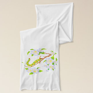 Cute Caterpillar and Flowers Scarf
