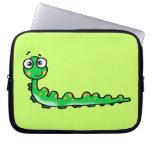 cute caterpillar cartoon laptop computer sleeves