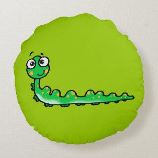 cute caterpillar cartoon round pillow