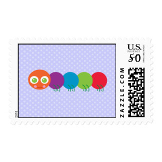 Cute Caterpillar Postage Stamps