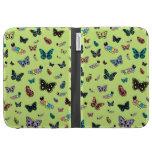 Cute Caterpillars & Butterflies (Green Background) Kindle Case
