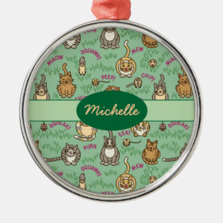 Cute Cats and Critters Metal Ornament
