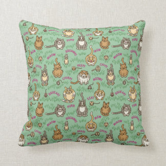 Cute Cats and Critters Throw Pillow