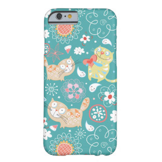 Cute Cats and Flowers Barely There iPhone 6 Case