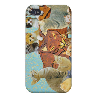 Cute Cats Collage 1 iPhone 4 Cases