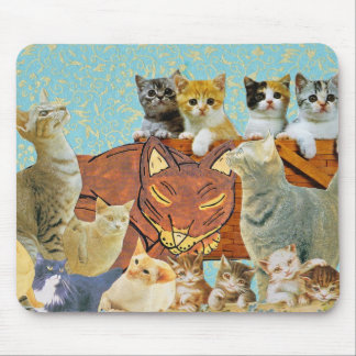 Cute Cats Collage 1 Mouse Pad