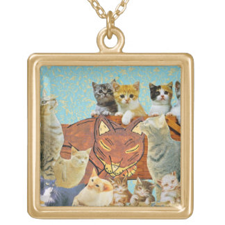 Cute Cats Collage 1 Necklace