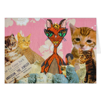 Cute Cats Collage 2 Card