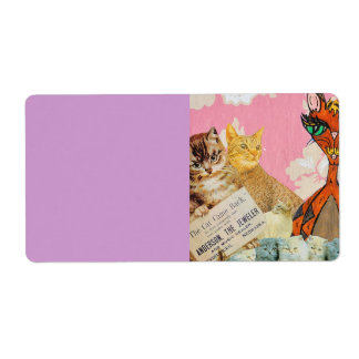 Cute Cats Collage 2 Labels