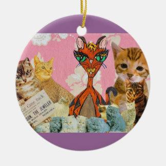 Cute Cats Collage 2 Ornament