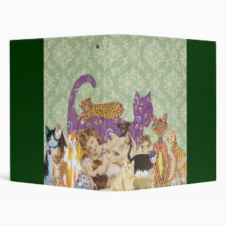 Cute Cats Collage 3 by Kewzoo Vinyl Binder