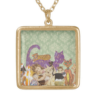 Cute Cats Collage 3 necklace