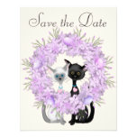 Cute Cats Easter Save the Date Wedding Notice Custom Invitations
