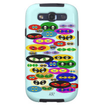 Cute Cats Eyes Cat Lover Samsung Galaxy S3 Case at Zazzle