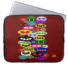 Cute Cats Eyes Cat Lovers Neoprene Laptop Sleeve at Zazzle