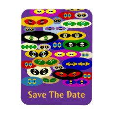 Cute Cats Eyes For Cat Lover Save The Date Magnet at Zazzle