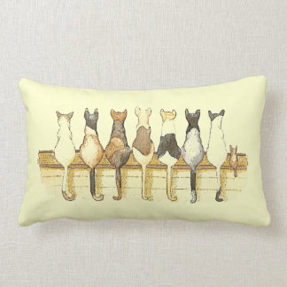 Cute cats lineup decorative pillow