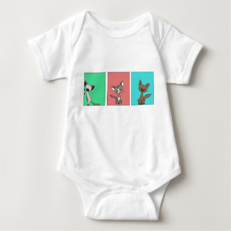 Cute Cats (Meet the Mews) Baby Bodysuit