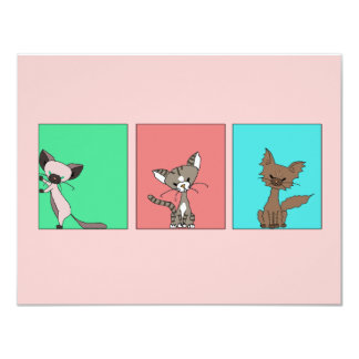 Cute Cats (Meet the Mews) Personalized Announcement
