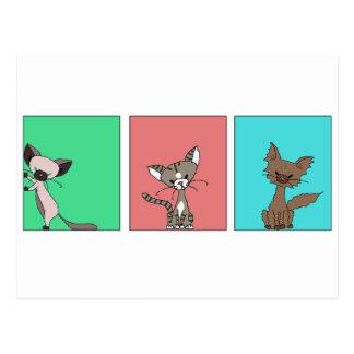 Cute Cats (Meet the Mews) Postcard
