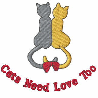 Cute Cats Need Love Too Embroidered Top