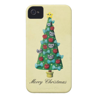 Cute Cats on Christmas Tree Blackberry Bold Case