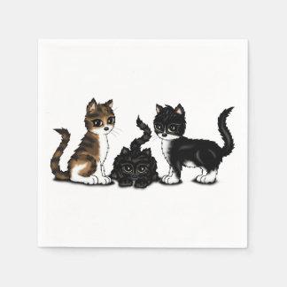 cute Cats Disposable Napkins