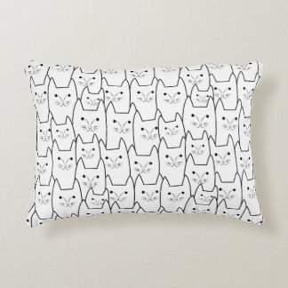 Cute cats pattern accent pillow