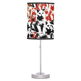 cute cats pattern art desk lamps