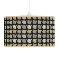 cute cats pattern ceiling lamp