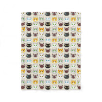 Cute Cats Pattern Fleece Blanket