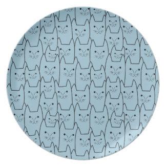 Cute cats pattern melamine plate