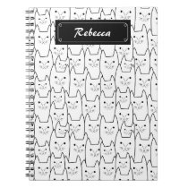 Cute cats pattern notebook