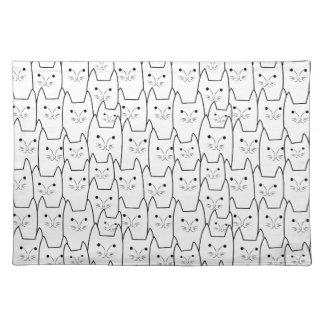 Cute cats pattern cloth placemat