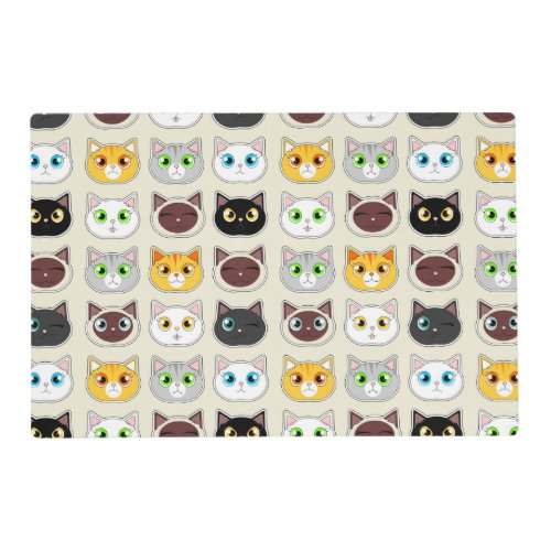 Cute Cats Pattern Placemat