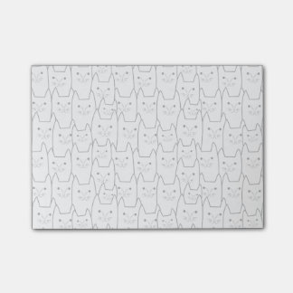 Cute cats pattern post-it® notes