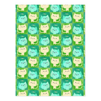 Cute Cats Pattern Postcard