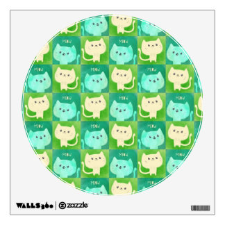 Cute Cats Pattern Wall Decal