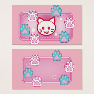 Cute cats' paw pads business card