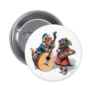 Cute Cats Play Mandolin and Xylophone in the Snow Button