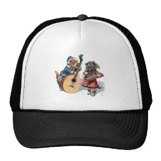 Cute Cats Play Mandolin and Xylophone in the Snow Trucker Hat
