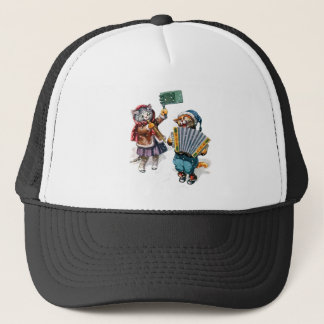 Cute Cats Play the Accordion in the Snow Trucker Hat