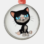 Cute Cats: PussPuss the Cute Cartoon Kitten Ornament