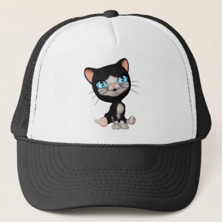 Cute Cats: PussPuss the Cute Cartoon Kitten Trucker Hat