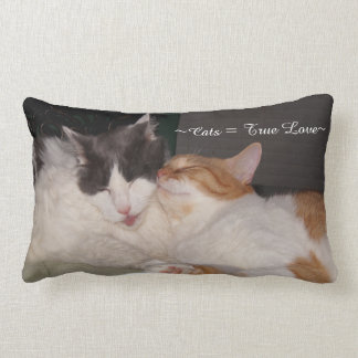 Cute Cats sleeping True Love Pillow