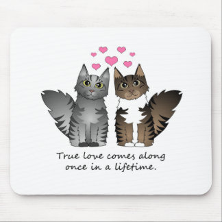 Cute Cats - True Love Mouse Pad