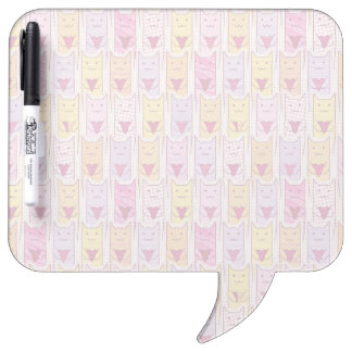 Cute Cats with Loving Hearts Dry Erase Board