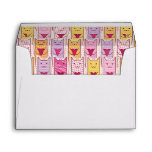 Cute Cats with Loving Hearts Envelopes