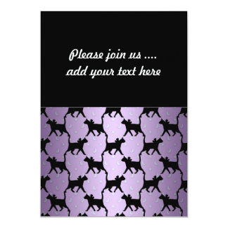 Cute Cats with Moons and Stars Pattern 5x7 Paper Invitation Card